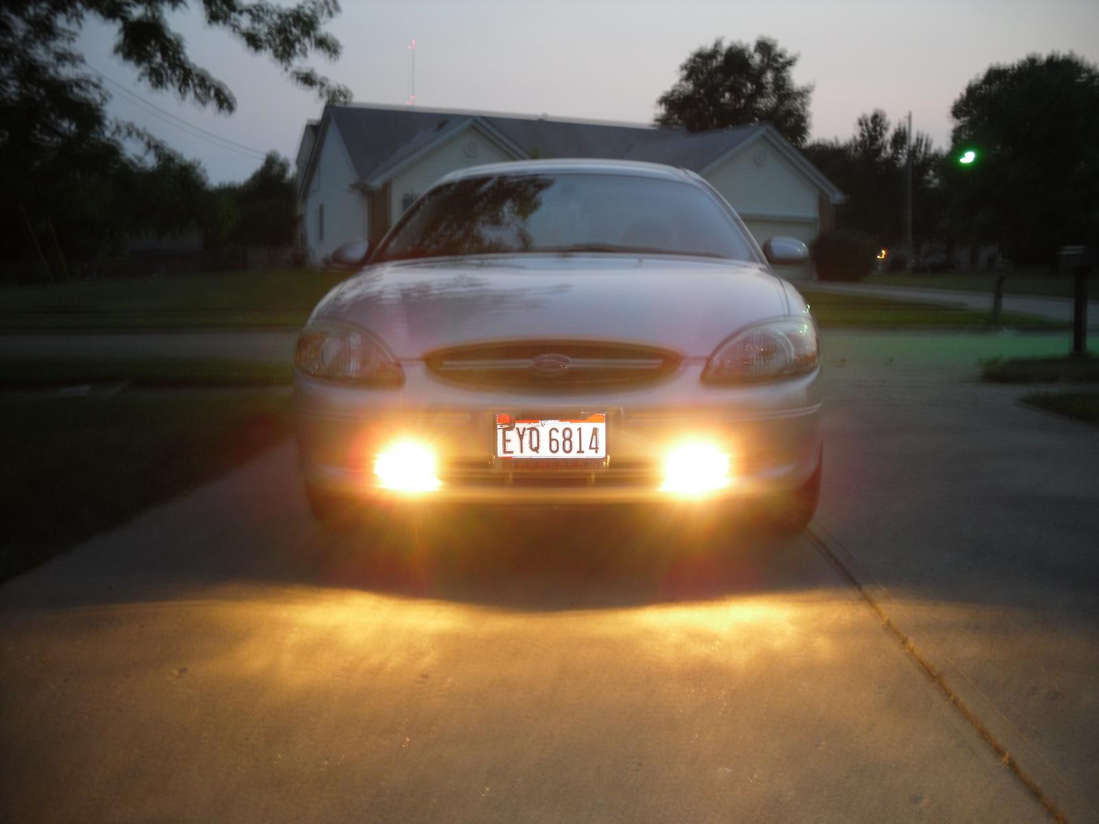 New fog lights installed taurus car club of america ford taurus forum