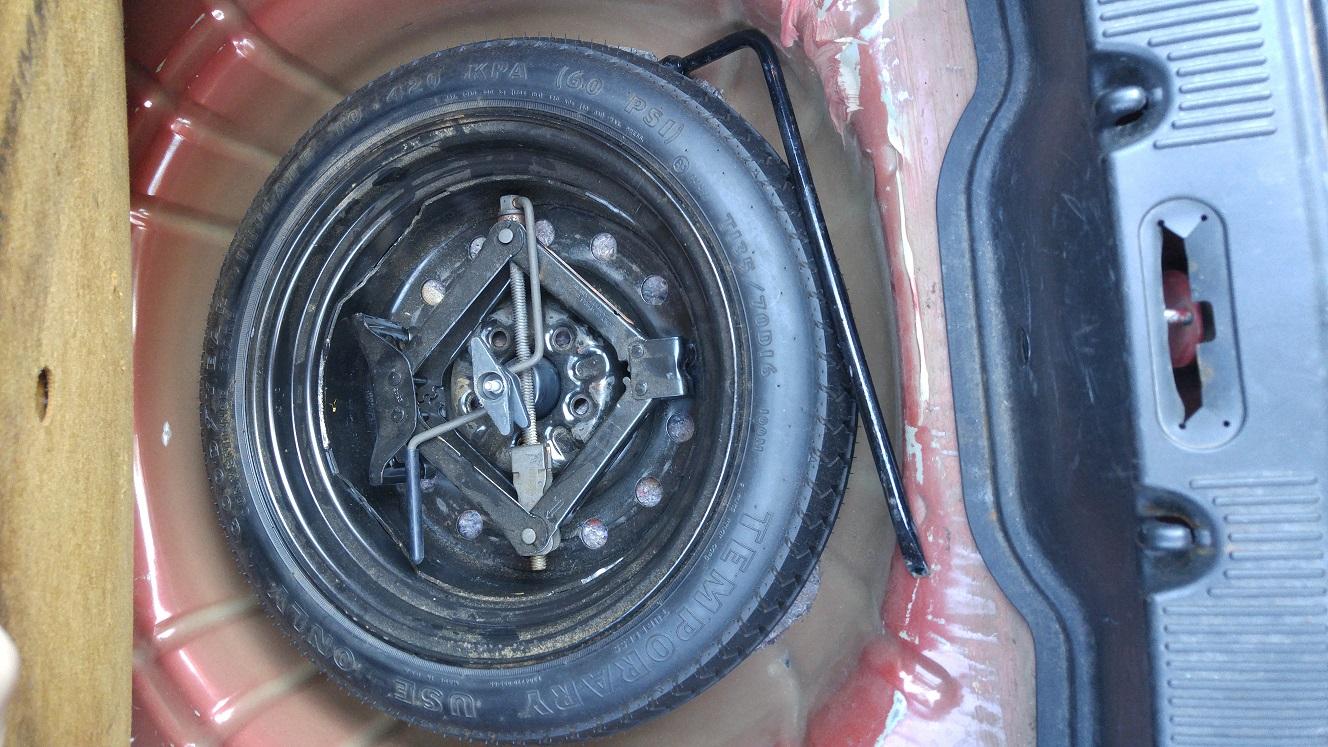 D Spare Tire Compartment C