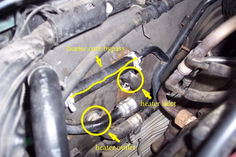 Which is Heater Inlet Hose. Pics included. - Taurus Car Club of ...