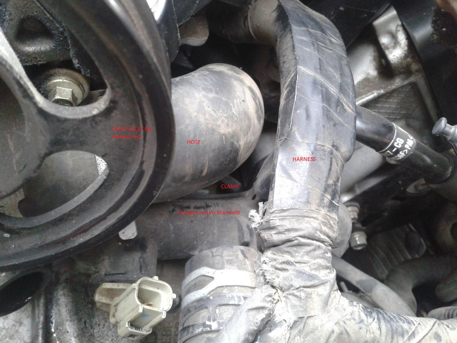D Dohc Water Pump Block Hose Copy on 2003 Ford Taurus White