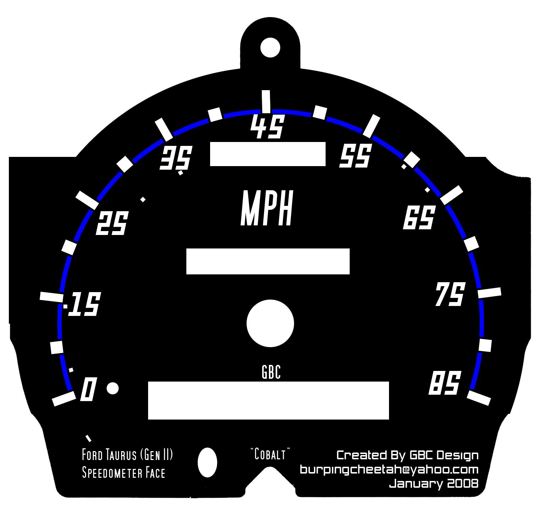 gauge templates custom faces taurus car club of america ford