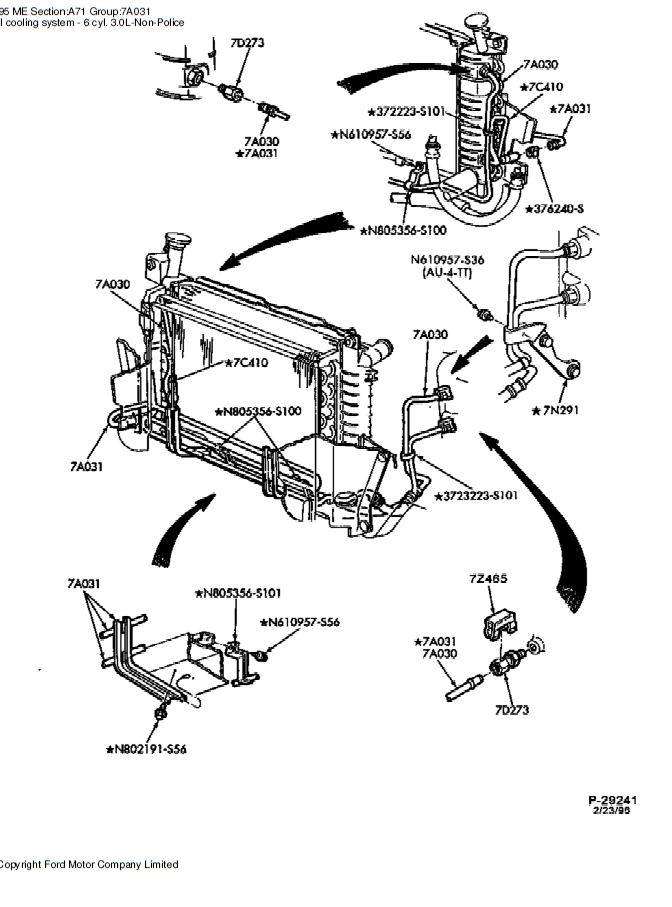 2002 mercury sable water pump diagram