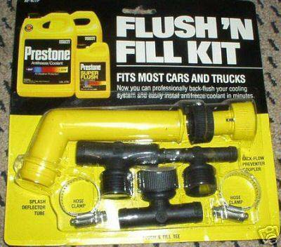 D Flushing Coolant Kit Questions Fill Kit on 2005 Ford Taurus Engine