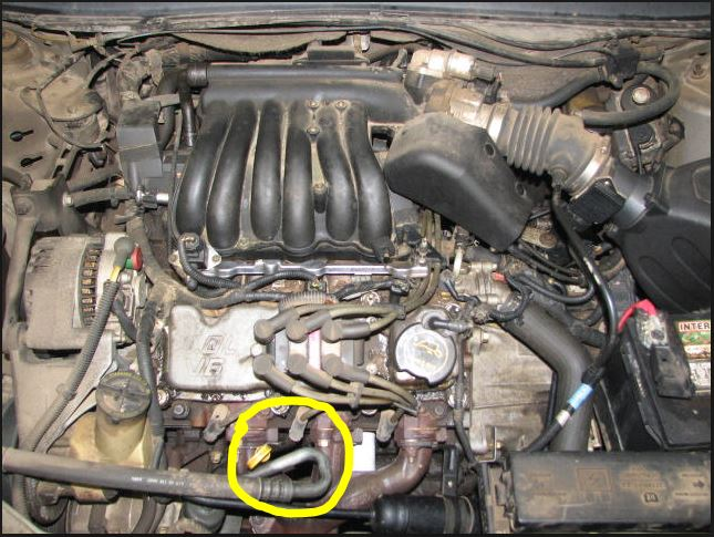 D V Vulcan Engine Front Middle Spark Plug Issue Ac Hose on 2001 Ford Taurus Engine
