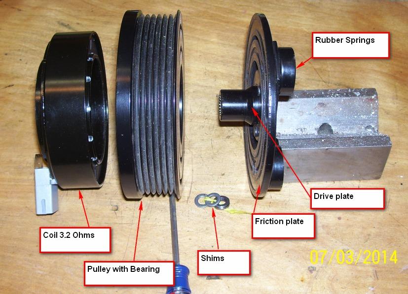 Seized A/C pulley? | Taurus Car Club of America : Ford