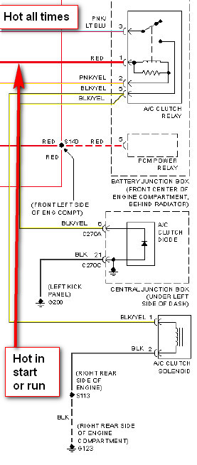 2000 Ford Taurus A C Clutch Wiring Diagram - Wiring Diagrams ... Ac Clutch Wiring Diagram on