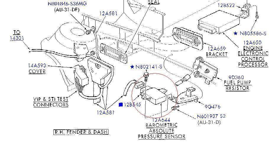 2001 ford taurus ses duratec engine diagram where is my map sensor  taurus car club of america ford taurus  where is my map sensor  taurus car