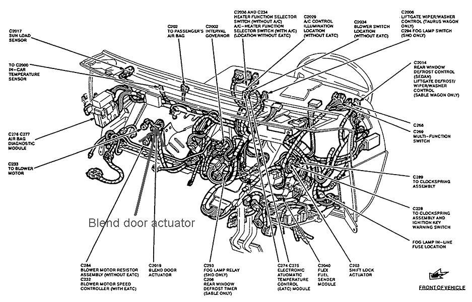 Blend Door Actuator 95 Sable Wagon Taurus Car Club Of