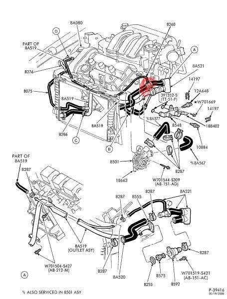 2003 ford taurus cooling system diagram v6  ford  wiring