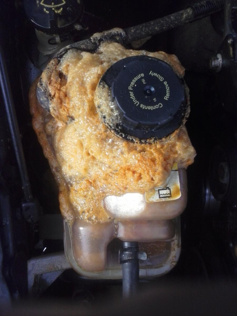 Coolant Reservoir Overflowing Foam Taurus Car Club Of