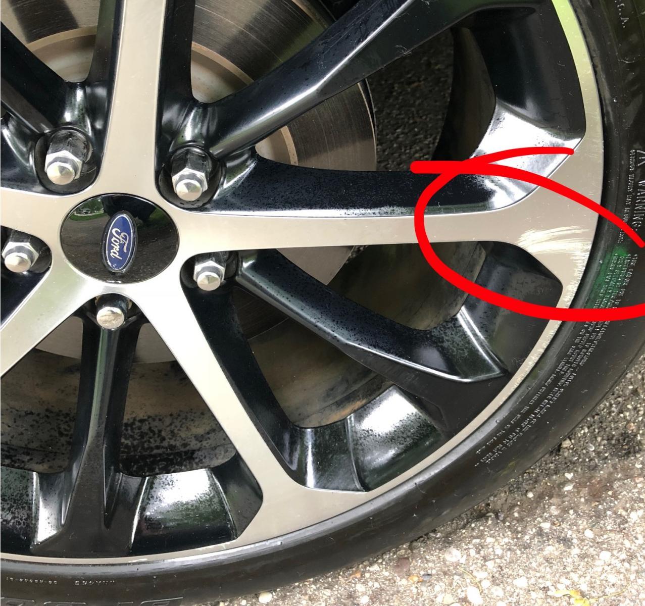 """2015 Ford Taurus Se: 2014/2015 20"""" OEM Alloy Wheel Curb Rash/Surface Scratch"""