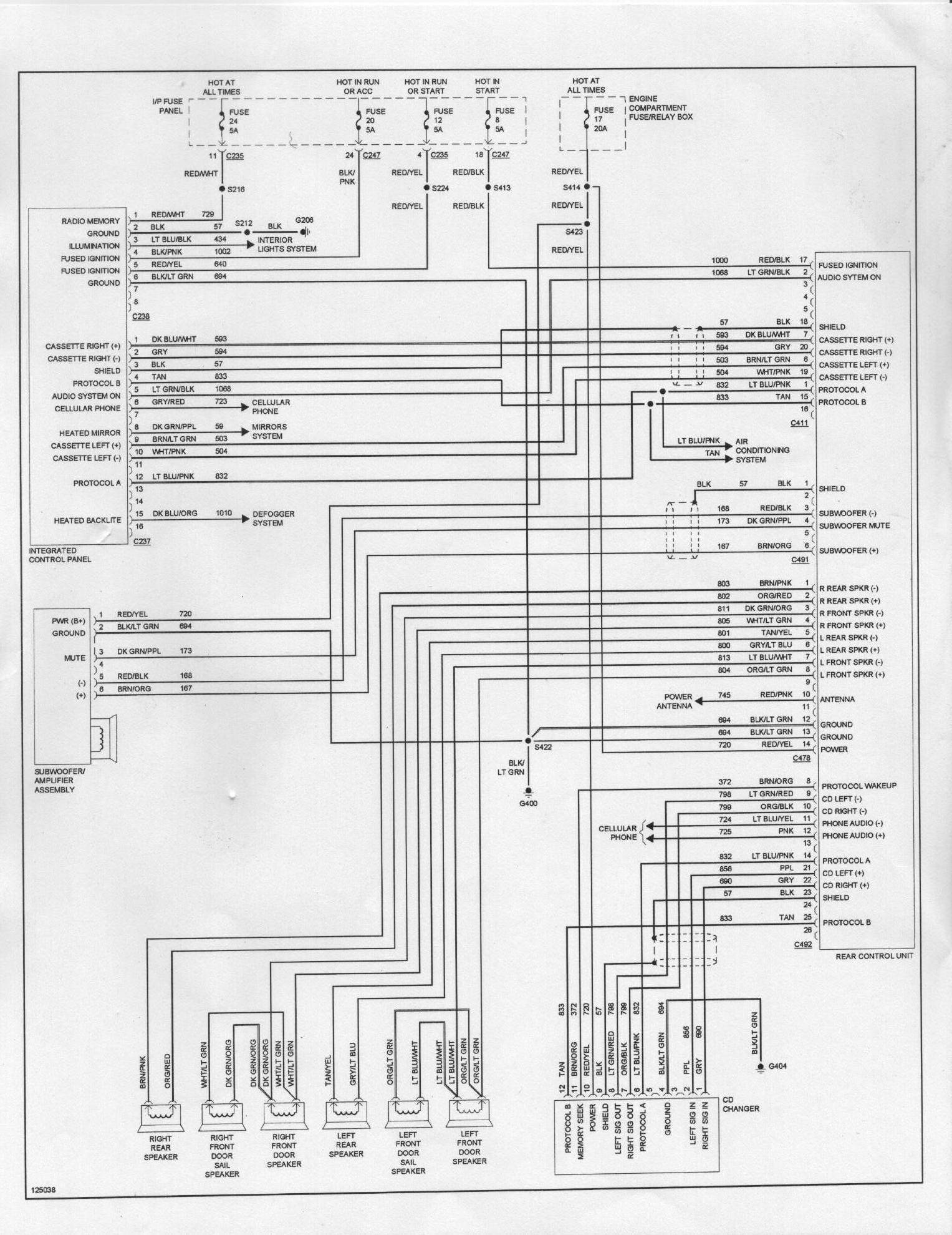 2005 Ford Factory Radio Wiring Harness Complete Diagrams