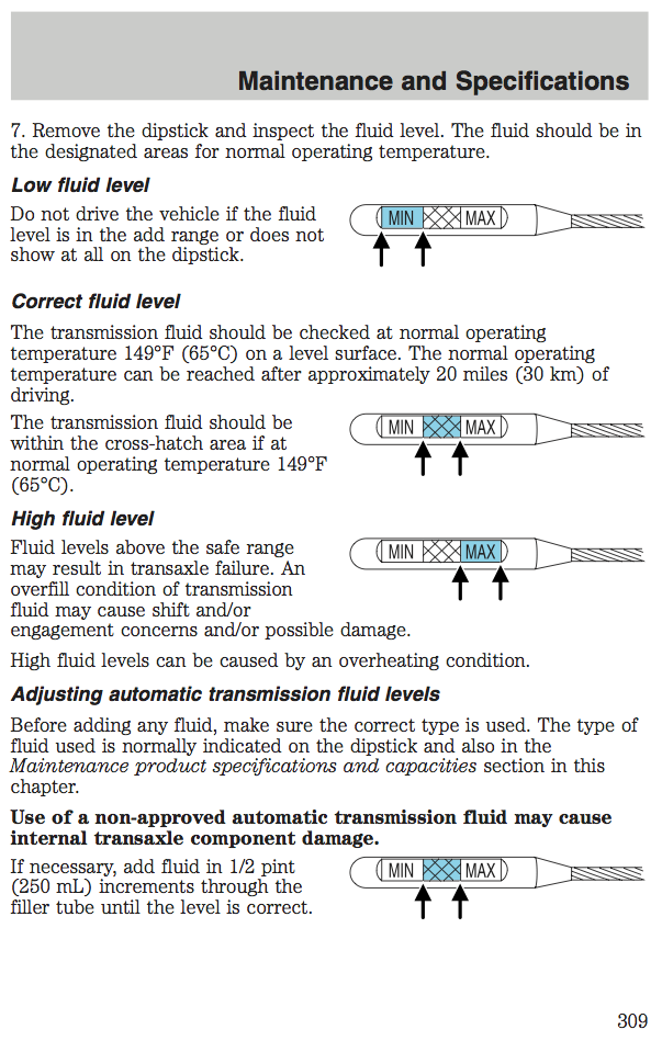 How To Check Automatic Transmission Fluid >> Checking Transmission Fluid Level Taurus Car Club Of