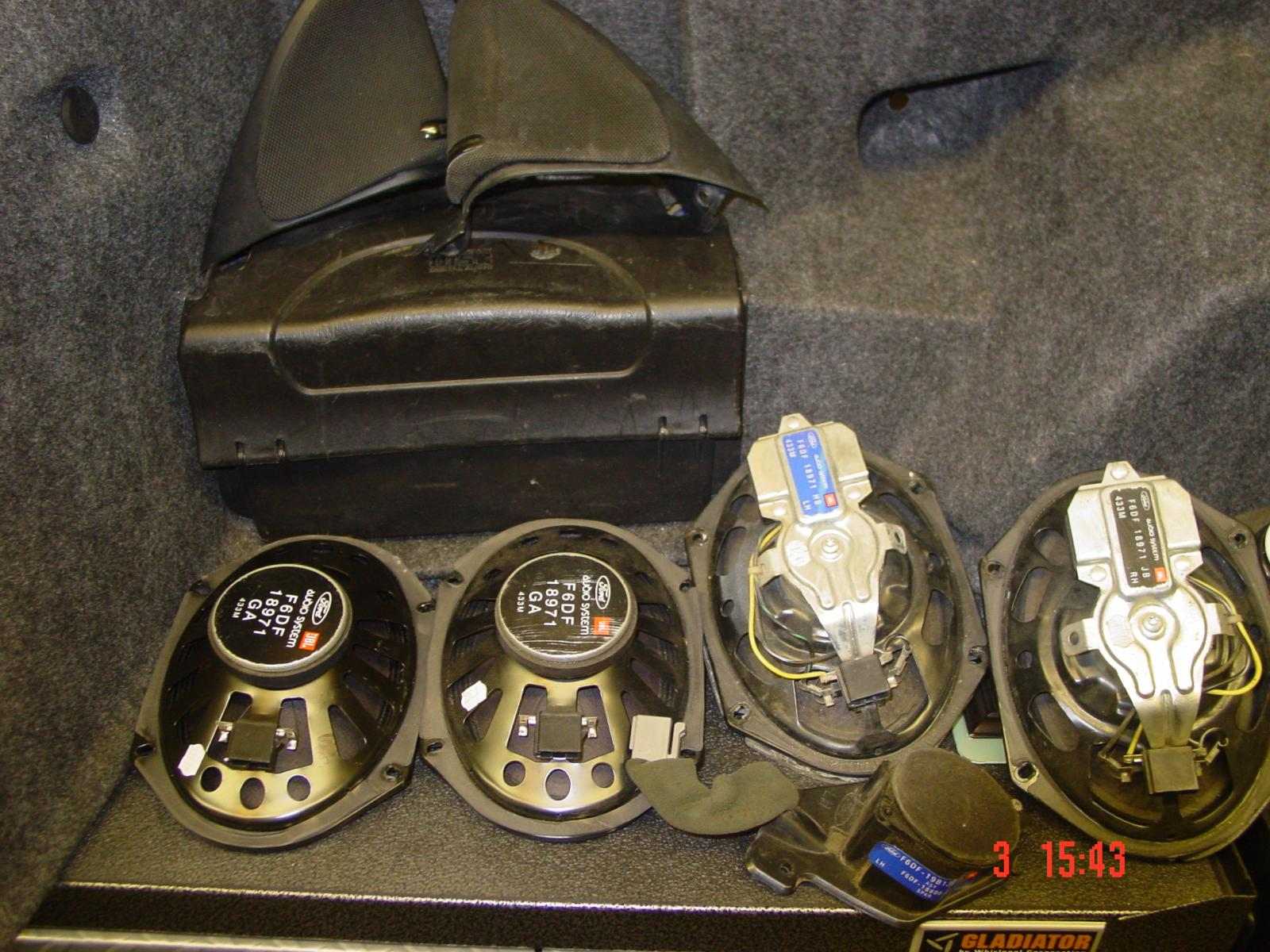Mach Stereo Speakers Taurus Car Club Of America Ford Forum 2002 Mustang Sound System Dsc02672