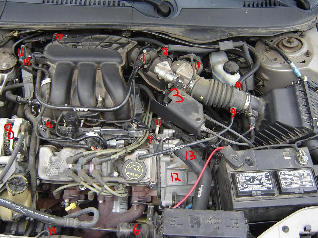 2001 Ford Taurus Engine Diagram - Wiring Diagrams Reset
