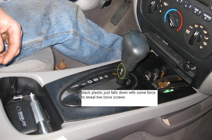 Floor Shifter Console Removal Procedure | Taurus Car Club of