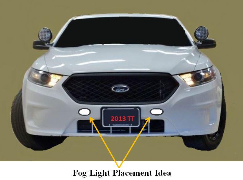 Fog Light Placement Idea 2013 Police