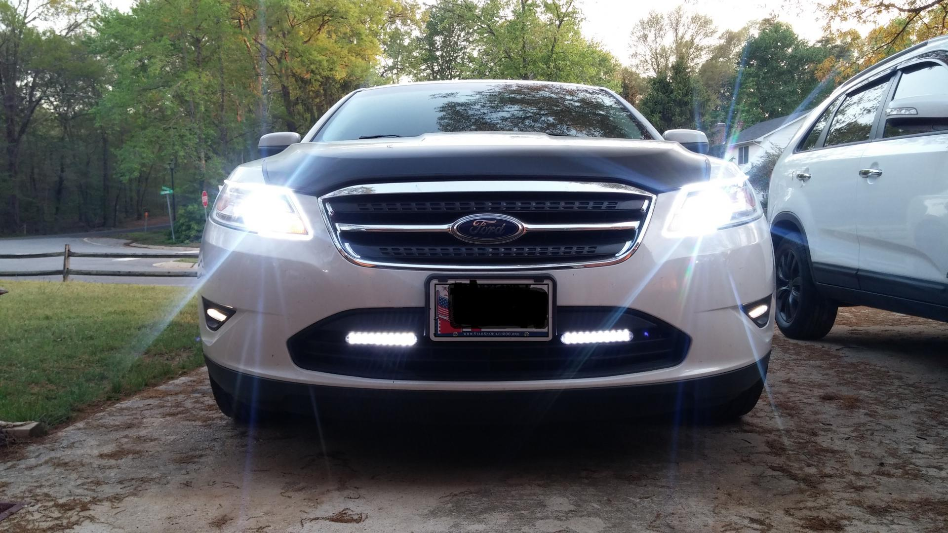 6k 55w Hid Headlights With Led Strips And Led Drls