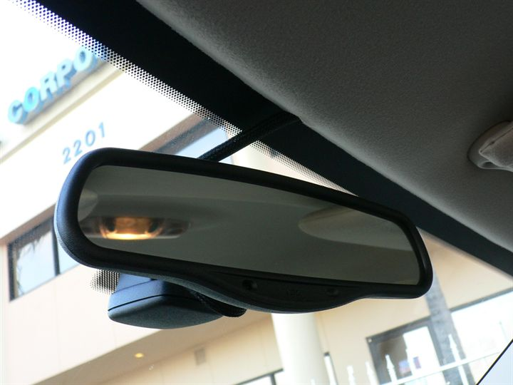 Black Sensor Box Mounted Behind Rear View Mirror Taurus