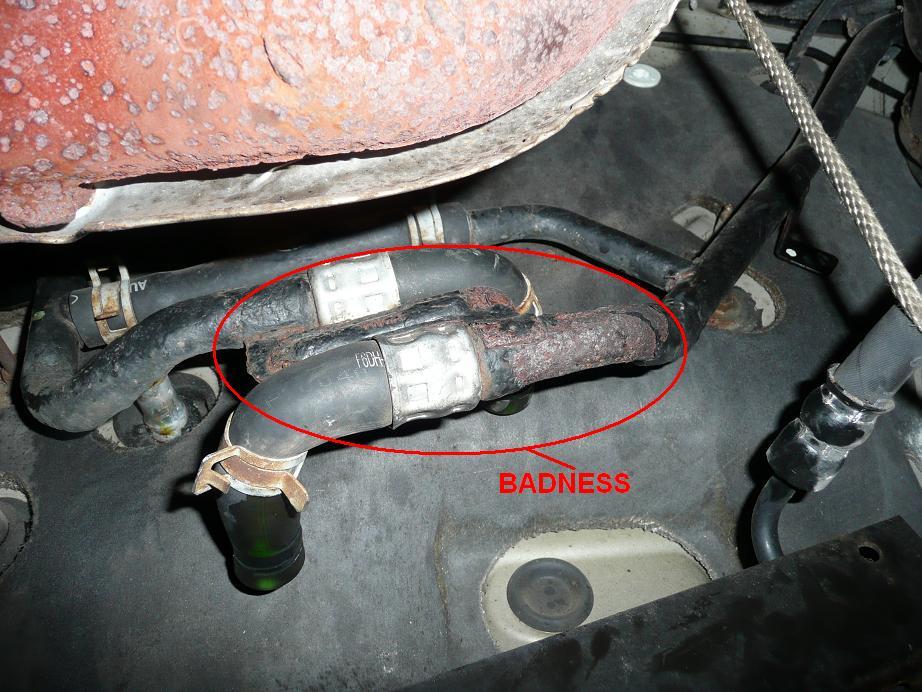 D What Part Coolant System Back Engine Heater Line