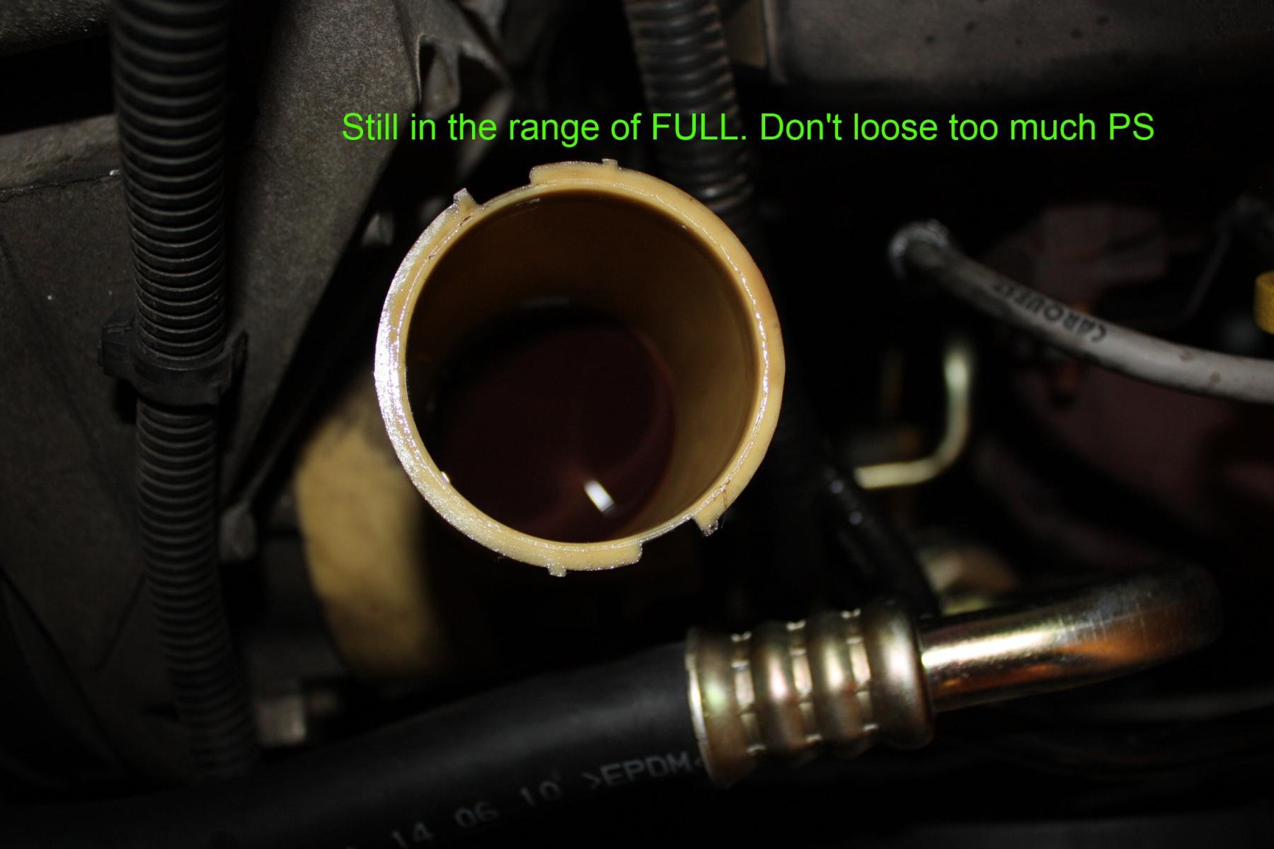 See Power Steering Oil On Top The Cap Taurus Car Club Of