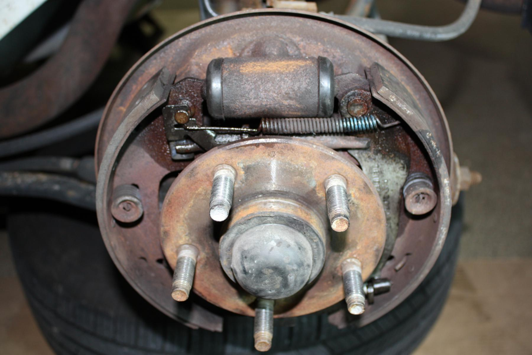 adjust rear drum brake question  u0026 summary