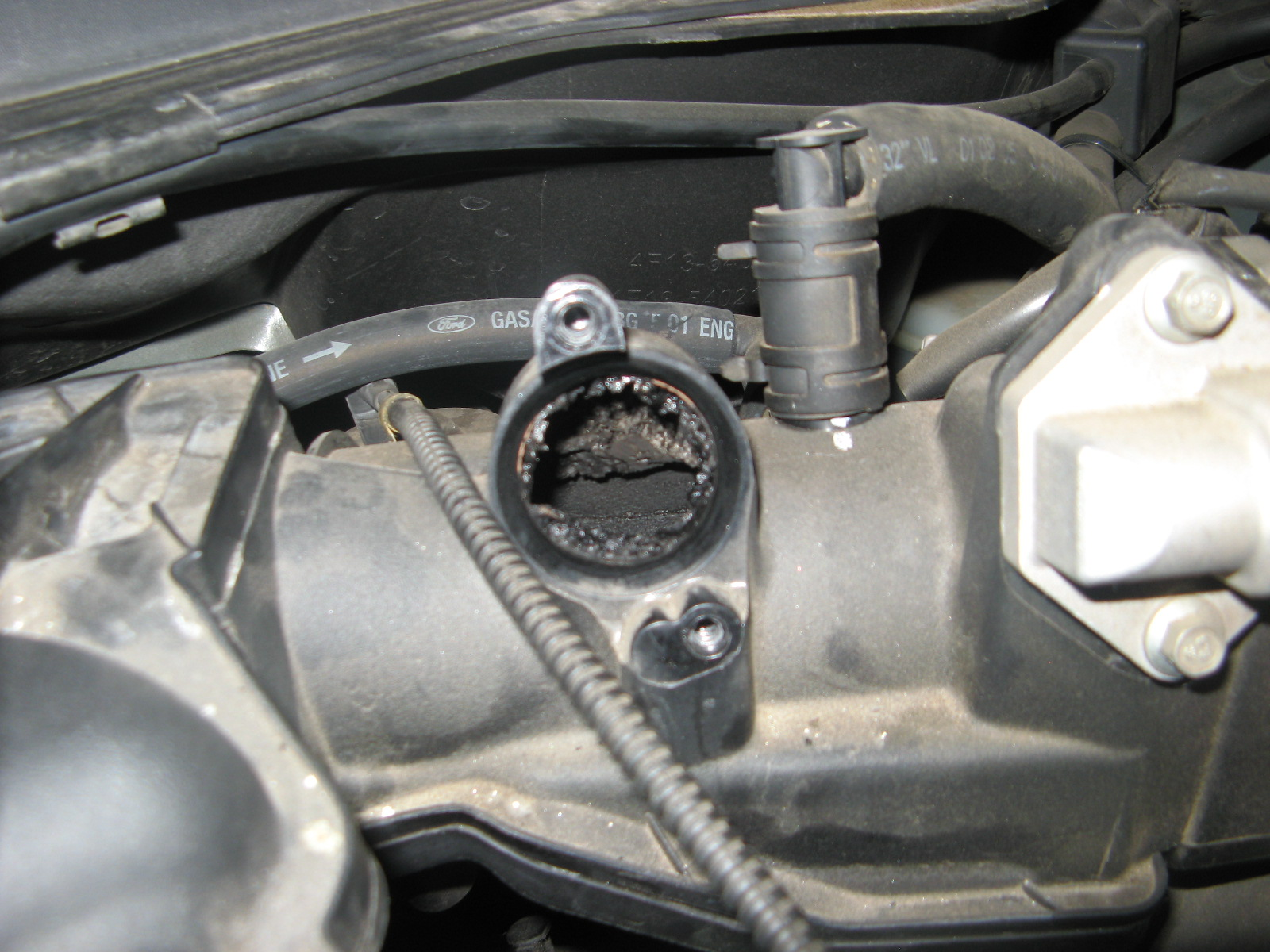 Ford Taurus Reviews >> PCV hose connector melting, what causes? - Taurus Car Club of America : Ford Taurus Forum