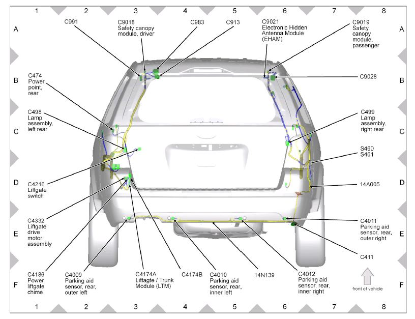 need help with backup camera wiring taurus car club of america 2007 Ford Taurus AC Wiring Diagram click image for larger version name lamps jpg views 12238 size 79 4