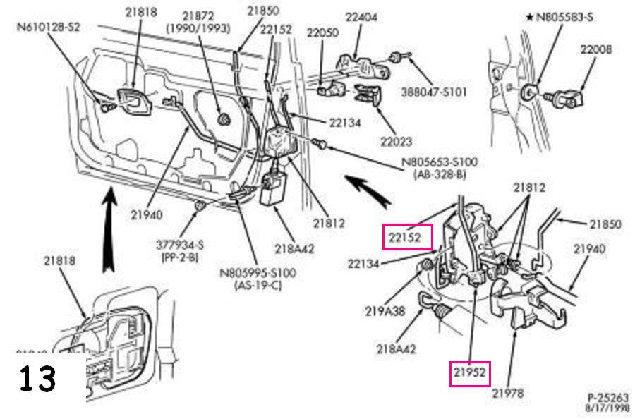 226250 Repairing Manual Door Lock on 2007 Ford Taurus Engine Diagram