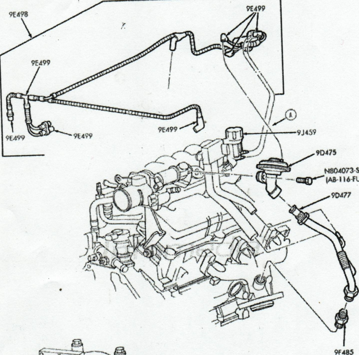 2006 ford taurus fuel system diagram
