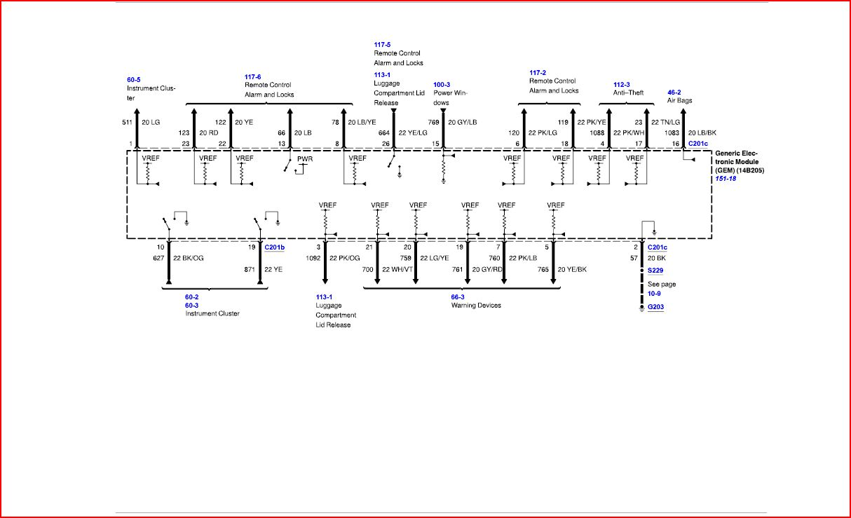 Wiring Diagrams Taurus Car Club Of America Ford Taurus Forum - 2013 honda fit wiring diagram