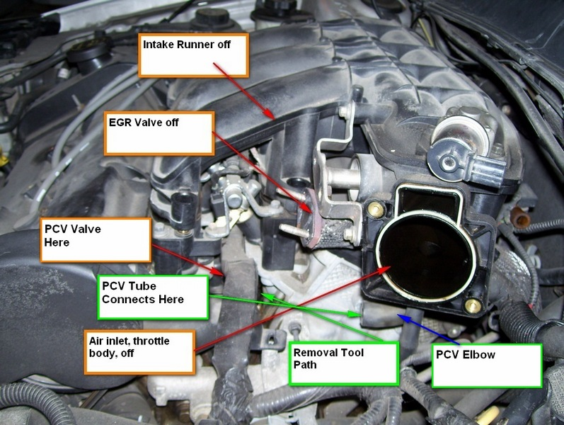 D Taurus Engine Light Misfire Pcv Removal on Pcv Valve Hose For 2003 Ford Taurus