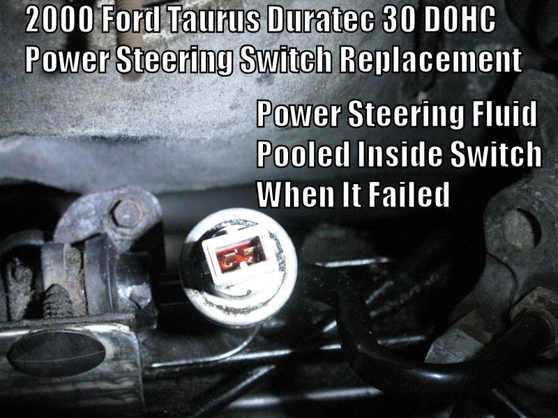 D Power Steering Pressure Switch Replacement Guide Ford Taurus Duratec V Dohc Power Steering on Well Pressure Switch