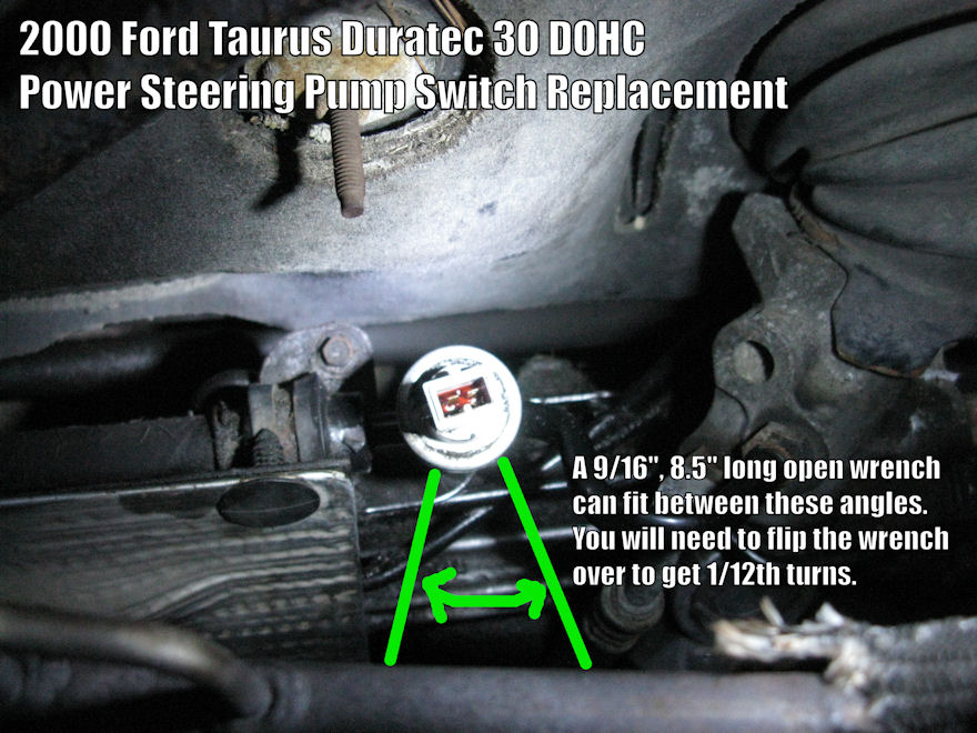 Power Steering Pressure Switch Replacement Guide: 2000 Ford Taurus