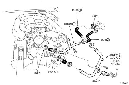 T6260396 O2 sensor circut bank1 sensor 2 bank besides C10 Front Suspension Diagram as well 2001 Camry Exhaust System Diagram additionally Ford Contour Intake Manifold Diagram together with Control Valve Housing. on 1999 ford taurus exhaust system diagram