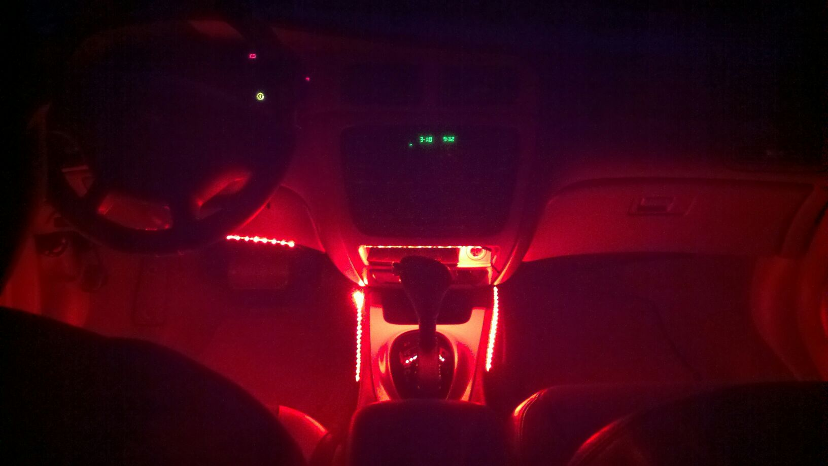 Custom Red Led Interior Lighting Taurus Car Club Of