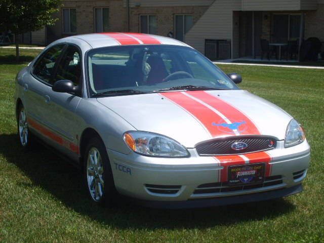 D Cherry Red Racing Stripes Silver Taurus S