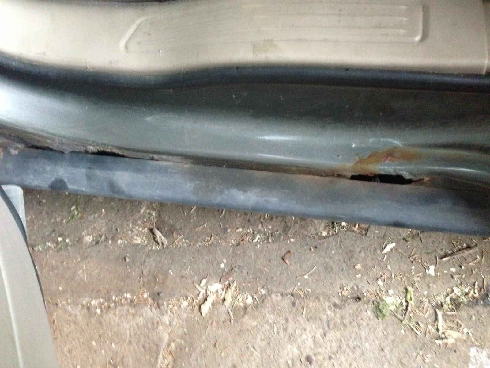 Rocker panel rust - Taurus Car Club of America : Ford ...
