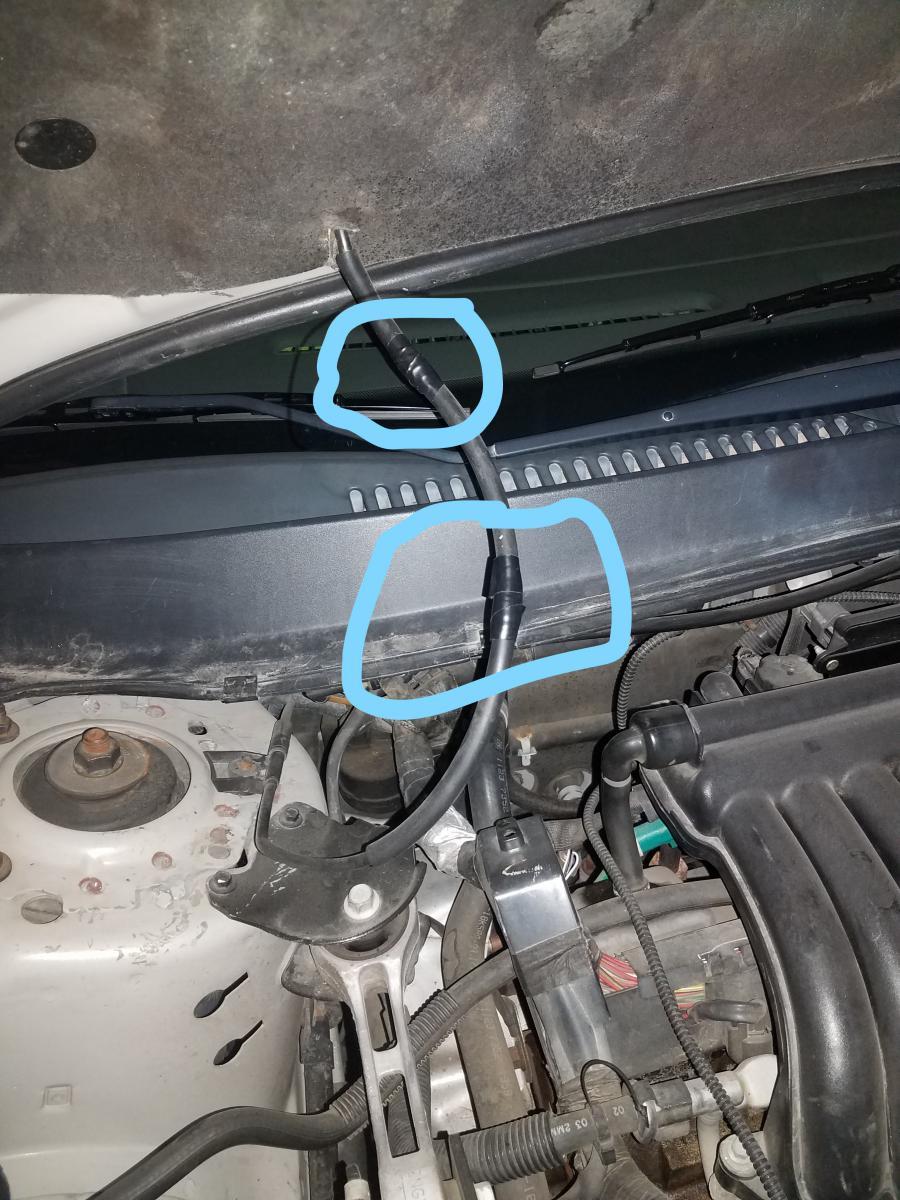 D Windshield Washer Hose Keeps Getting Cut Why Taurus on Club Car Diagram