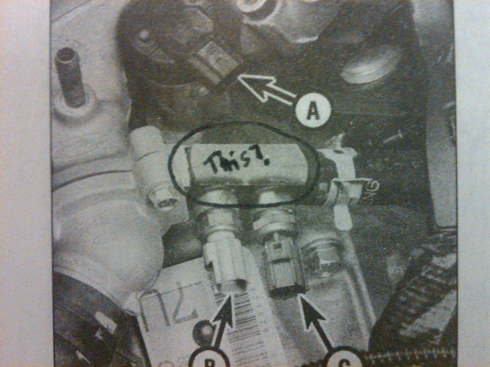 D Engine Coolant Temp Ect Housing Question Taurus Leak Area Where Ect Sensors Plug Into