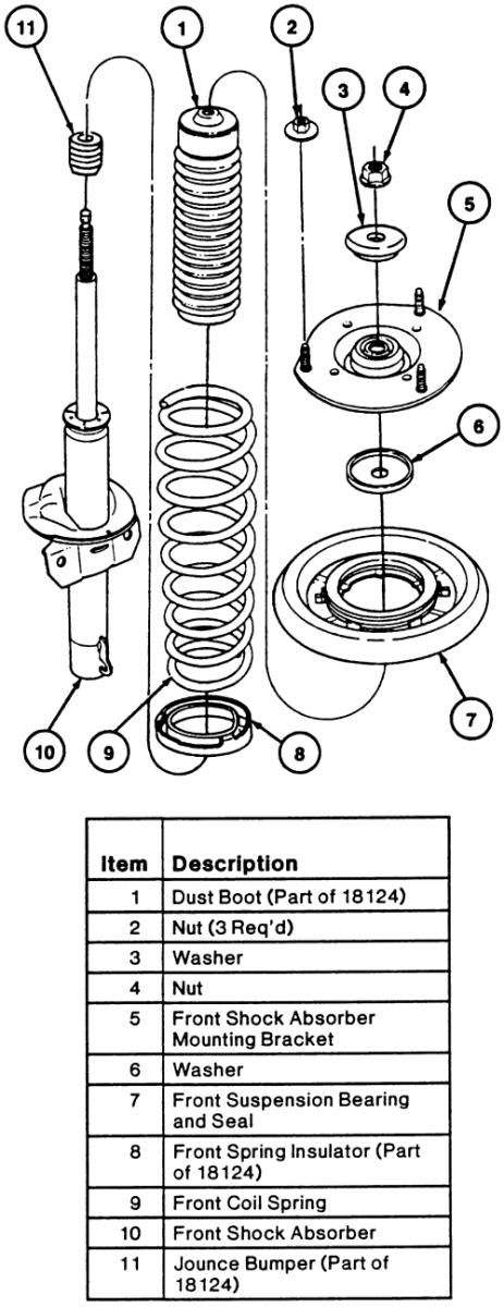 D G Front Strut Preassembly Questions Please Help Taurus Strut Assembly on Ford Taurus 3 0 Engine Diagram