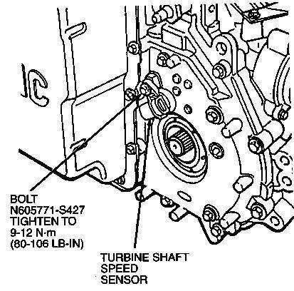 D Transmission Input Turbine Speed Sensor Tss on 1999 Ford Taurus Serpentine Belt Diagram