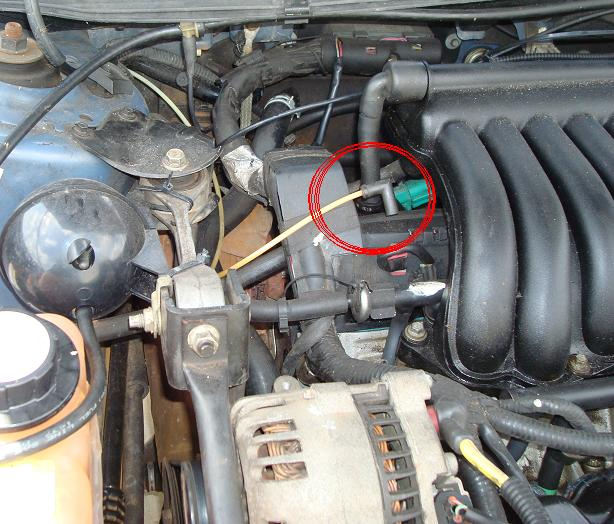 vacuum hose connection where to taurus car club of america jpg 69 2 kb 41487 views