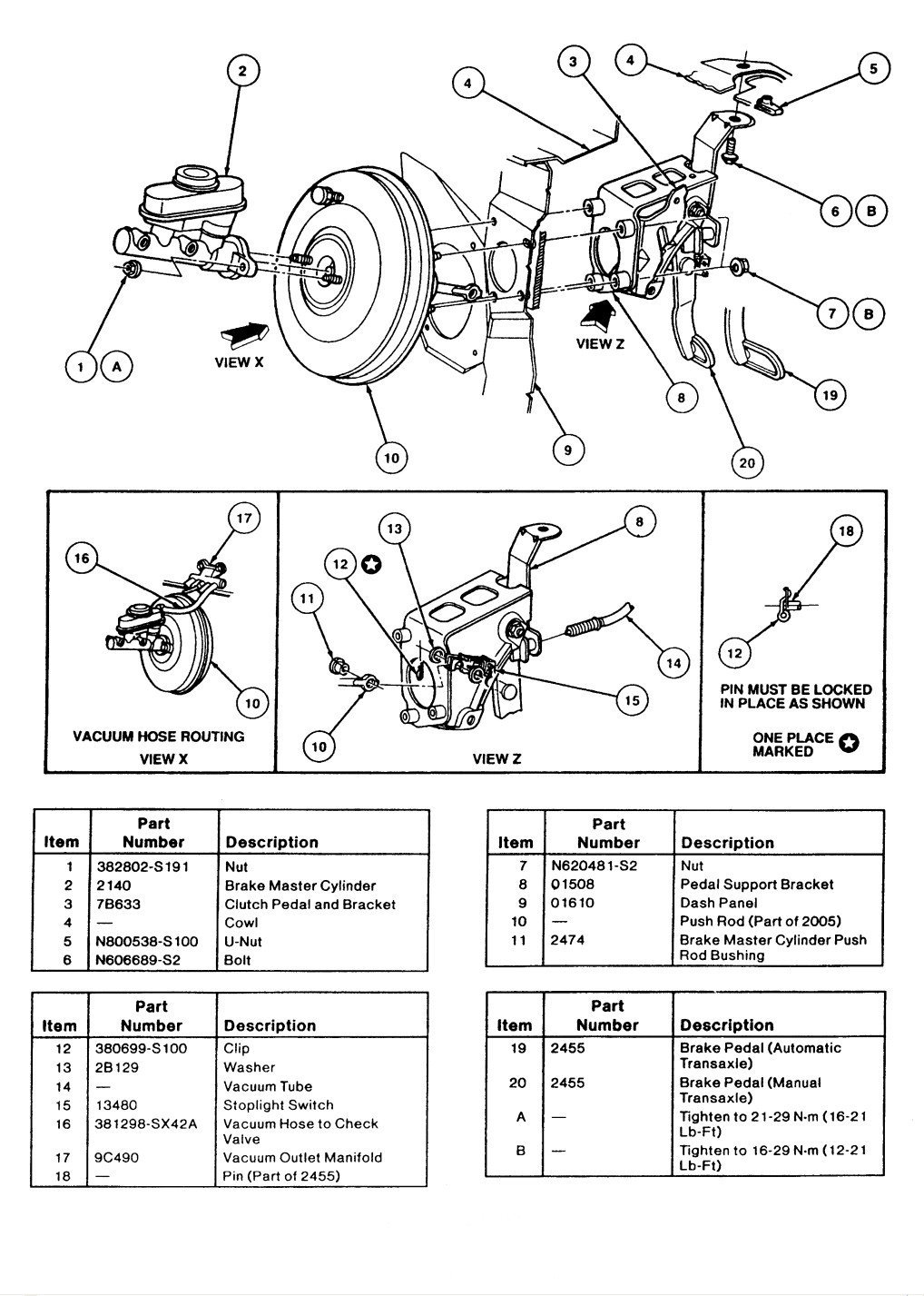 Brake system and vacum leak  | Taurus Car Club of America