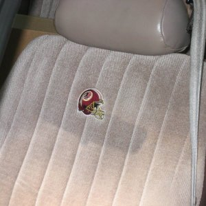 Strange Redskins Themed Seat Covers Taurus Car Club Of America Squirreltailoven Fun Painted Chair Ideas Images Squirreltailovenorg